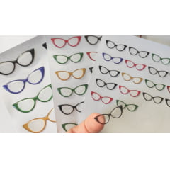 Cód. 523 TRANSPARENTE Resinado - Óculos Gatinho