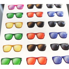 Cód. 525 B Resinado - Óculos Tradicional Fundo  Branco