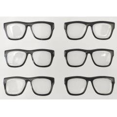 Cód. 525 TRANSPARENTE Resinado - Óculos Tradicional