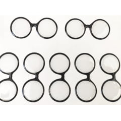 Cód. 522 Transparente Resinado - Óculos Redondo